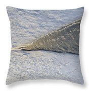 River Ice Star Throw Pillow