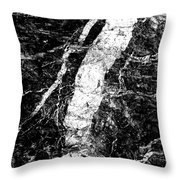 River In The Cliff Throw Pillow