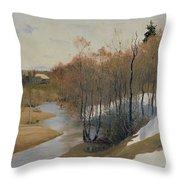 River Kordonka Throw Pillow