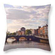 River Liffey 2 - Dublin Throw Pillow