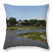River Loire Fishing Boat Throw Pillow
