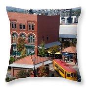 River Market In Little Rock Arizona Throw Pillow