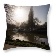River Medway In Kent Throw Pillow