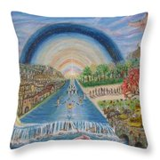 River Of Life Throw Pillow by Neal David Reilly