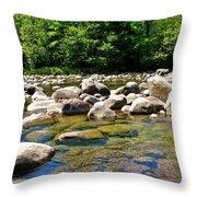 River Of Rocks Throw Pillow