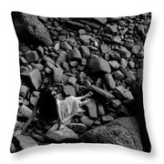River Of The Stones  Throw Pillow
