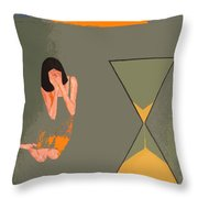 River Of Time Throw Pillow