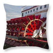River Paddle Steamer Throw Pillow