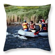 River Rafting Throw Pillow