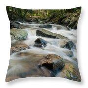 River - Rapids Above Kent Falls Throw Pillow