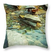 River Rock Path Throw Pillow