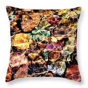 River Rock Rainbow Throw Pillow