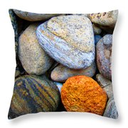 River Rocks 1 Throw Pillow