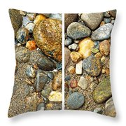 River Rocks 17 In Stereo Throw Pillow