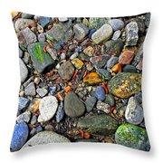 River Rocks 22 Throw Pillow