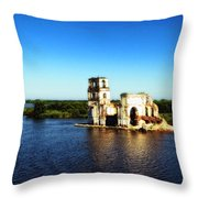 River Ruins Throw Pillow