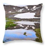 River San Juan And Lakes At Sunset Throw Pillow
