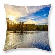 River Scene Throw Pillow