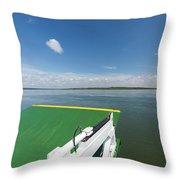 River Shannon Ferry, Tarbert-killimer Throw Pillow