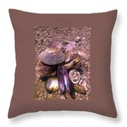 River Shells Throw Pillow