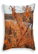 River Side Foliage Autumn Throw Pillow
