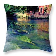 River Sile In Treviso Italy Throw Pillow