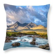 River Sligachan Throw Pillow