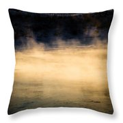 River Smoke Throw Pillow