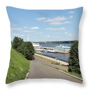 River Station Throw Pillow