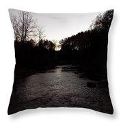 River Stream Throw Pillow