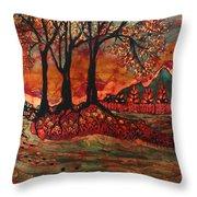 River Sunrise - Lothlorien Throw Pillow
