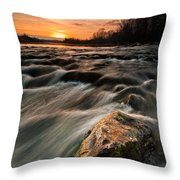 River Sunset Throw Pillow by Davorin Mance