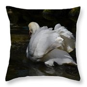 River Swan Throw Pillow