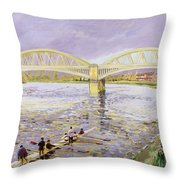 River Thames At Barnes Throw Pillow by Sarah Butterfield