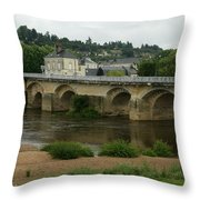 River Vienne - France Throw Pillow