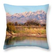 River View Mesilla Panorama Throw Pillow