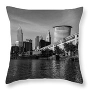 River View Of Cleveland Ohio Throw Pillow