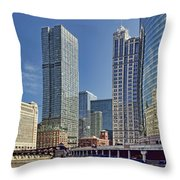 River View Skyline Throw Pillow