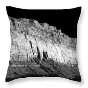River Wall Bw Throw Pillow