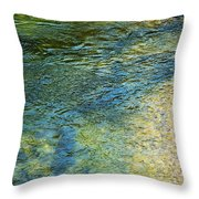 River Water 1 Throw Pillow