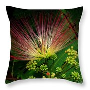 River Wildflowers Throw Pillow