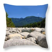 River With Mountain Throw Pillow