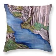 River With No End Throw Pillow