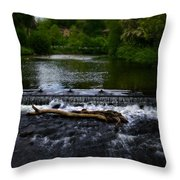 River Wye - In Peak District - England Throw Pillow