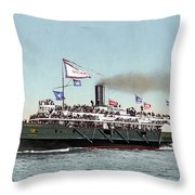 Riverboat, C1900 Throw Pillow