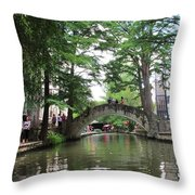 Riverboat View Throw Pillow