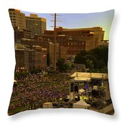 Riverfront Concert Throw Pillow by Diana Powell
