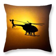 Riverside Ca Pd Air Support Throw Pillow