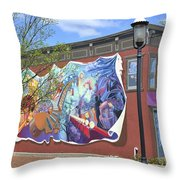 Riverside Gardens Park In Red Bank Nj Throw Pillow
