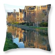 Riverside Home Reflections Vertical Throw Pillow by Gill Billington